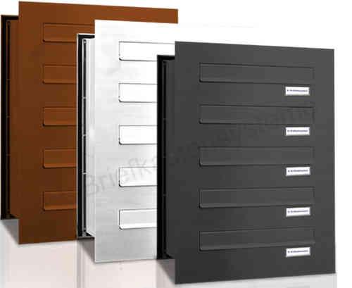 mauerdurchwurf briefkasten pulverbeschichtet neu. Black Bedroom Furniture Sets. Home Design Ideas
