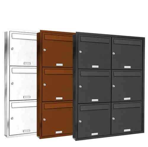 unterputz briefkasten pulverbeschichtet post stehend neu. Black Bedroom Furniture Sets. Home Design Ideas