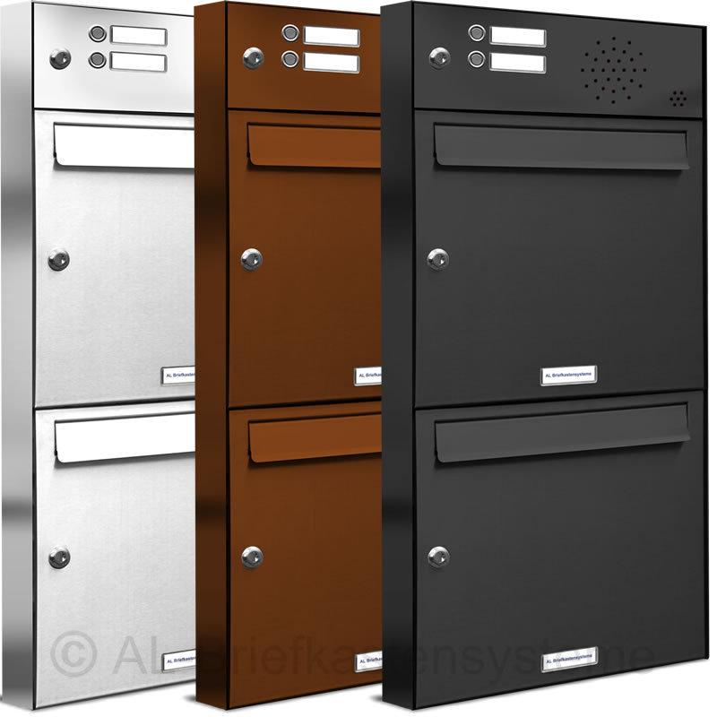 2er 1x2 briefkasten klingelanlage pulverbesch post stehend neu. Black Bedroom Furniture Sets. Home Design Ideas