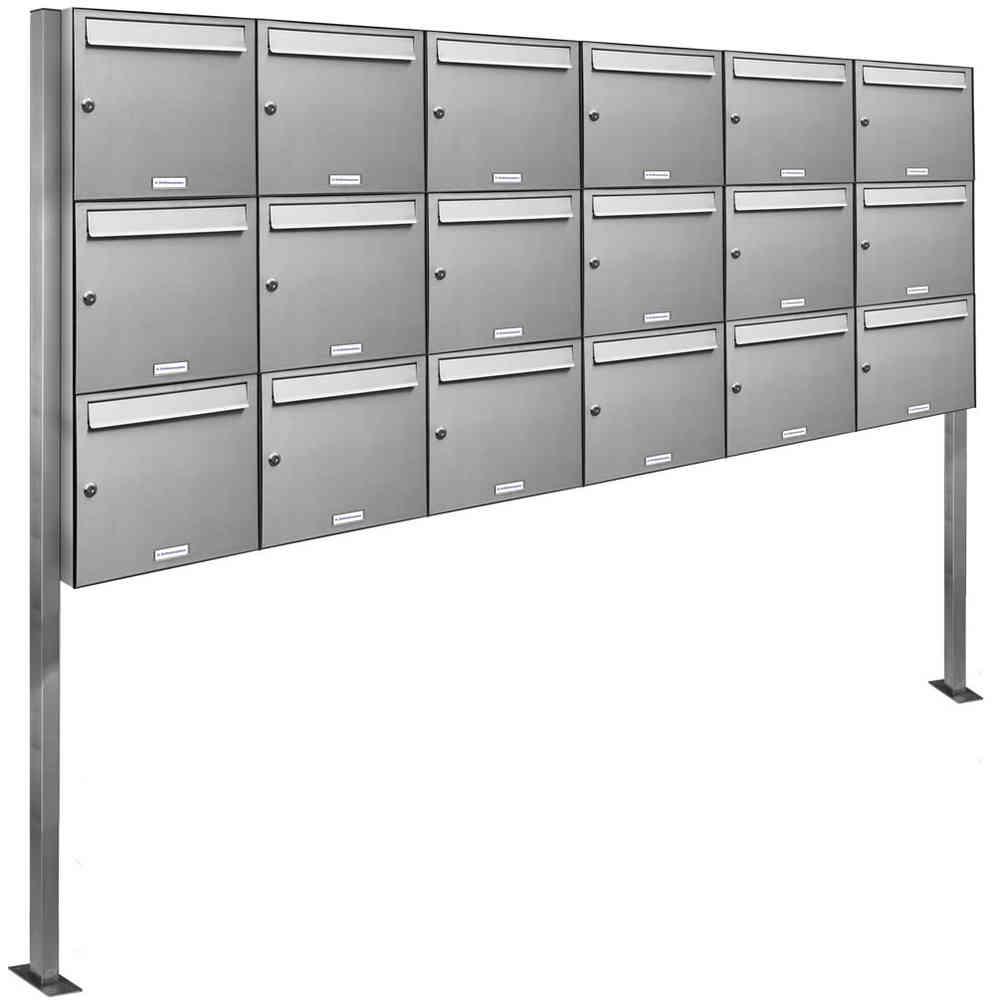 18er 6x3 Briefkasten Standanlage V2a Edelstahl Günstig Kaufen